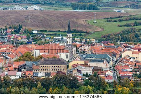View of the town Levoca from Marianska Mountain, Slovakia