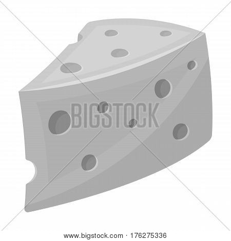 Rustic homemade cheese. Homemade homemade dairy product.Farm and gardening single icon in monochrome style vector symbol stock web illustration.