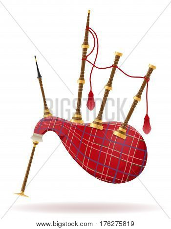 bagpipes wind musical instruments stock vector illustration isolated on white background