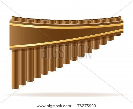 pan flute wind musical instruments stock vector illustration isolated on white background