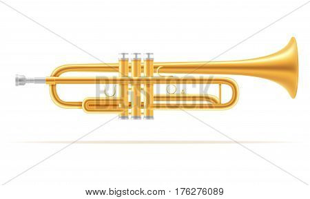 trumpet wind musical instruments stock vector illustration isolated on white background