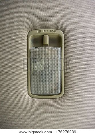 Built-in lamp with on / off switch in the ceiling of the car, car interior