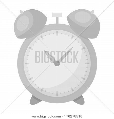 Alarm clock for early Wake up to school. Watch so as not to be late for school .School And Education single icon in monochrome style vector symbol stock web illustration.