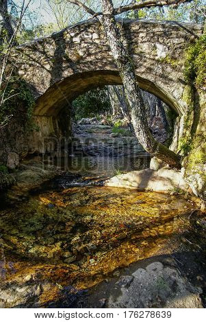Bridge Over Small River At Convento De Las Batuecas