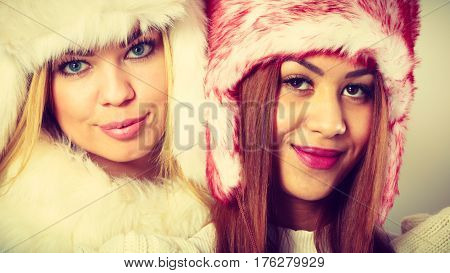Two Girls With Winter Outfit.