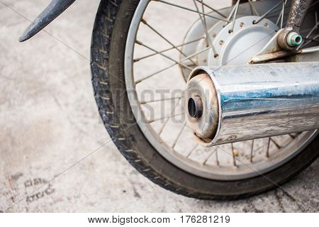 Motorcycle Exhaust,chromed Exhaust On A Motorcycle