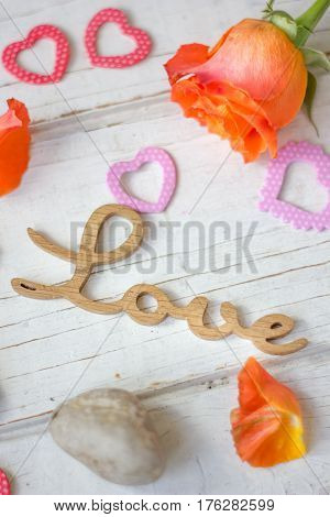 Valentine's Day Background - Hearts, Cloves And Love Letters.