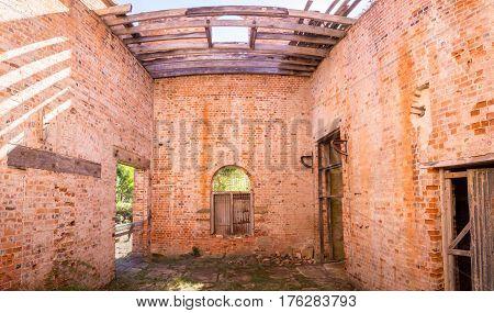 Convict brick house in Darlington on Maria Island, Tasmania, Australia