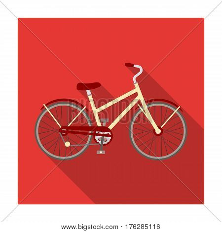 Rural women s bicycle. The vehicle of a healthy lifestyle.Different Bicycle single icon in flat style vector symbol stock web illustration.