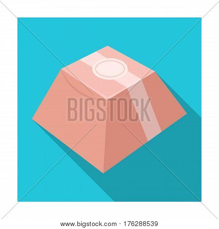 Gift in the form of a pyramid. Gift wrap on holiday.Gifts and Certificates single icon in flat style vector symbol stock web illustration.