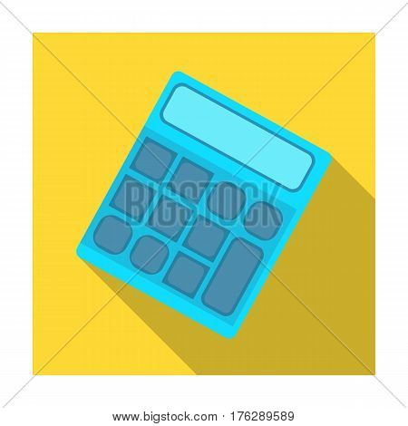Calculator. Machine to quickly count data. Math .School And Education single icon in flat style vector symbol stock web illustration.