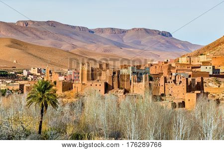 Traditional Kasbah fortress in Dades Valley in the High Atlas Mountains - Morocco
