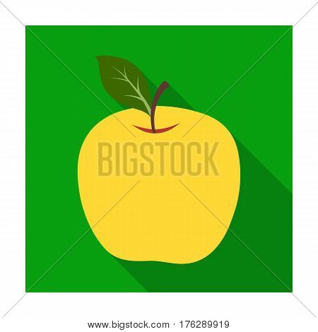 Red Apple. Snack at school. Lunch at the break.School And Education single icon in flat style vector symbol stock web illustration.