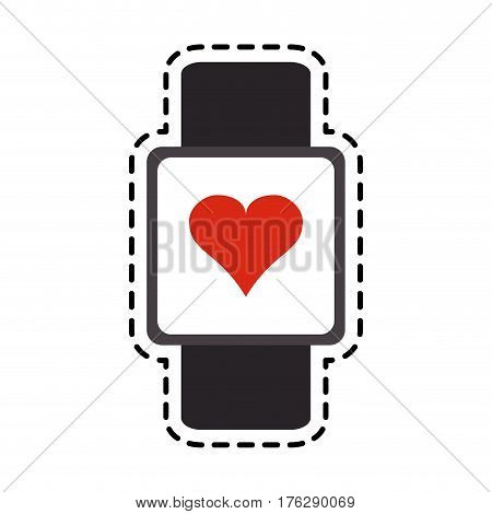 portable heart rate monitor icon image vector illustration design