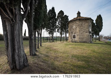 Bolgheri, Leghorn - View Of Oratorio Of San Guido, Tuscany, Italy