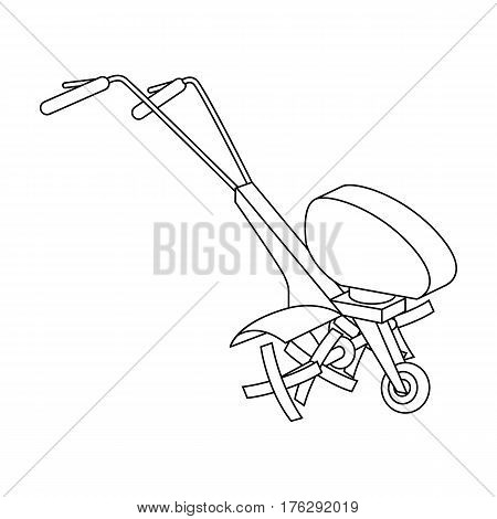 Mowers for cutting grass and lawn. Agricultural machinery for the court.Agricultural Machinery single icon in outline style vector symbol stock web illustration.