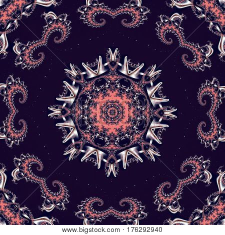 Fabulous fractal background with circle ornament.
