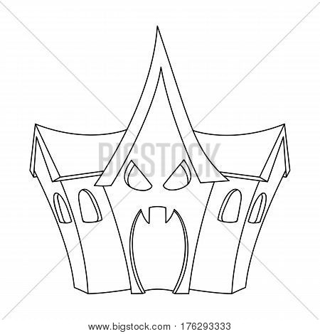 A haunted house, a room of fear in an amusement park. Attraction for the fearless.Amusement park single icon in outline style vector symbol stock web illustration.