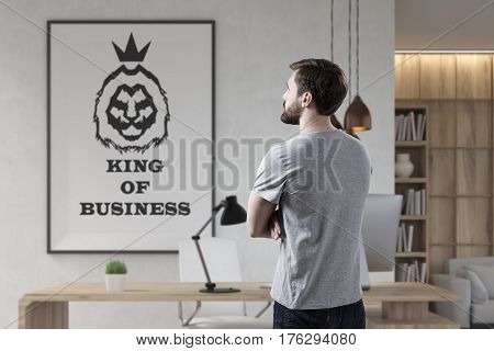 Bearded Businessman And King Of Business