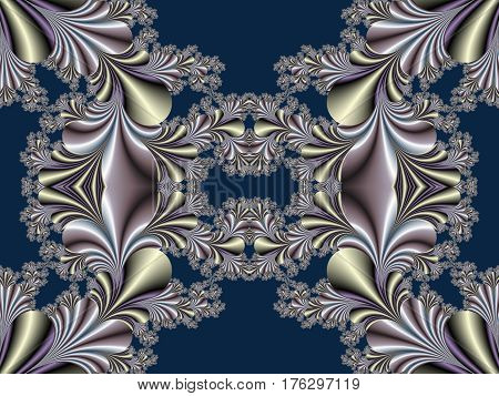 Fabulous symmetrical background. Magical Satin.