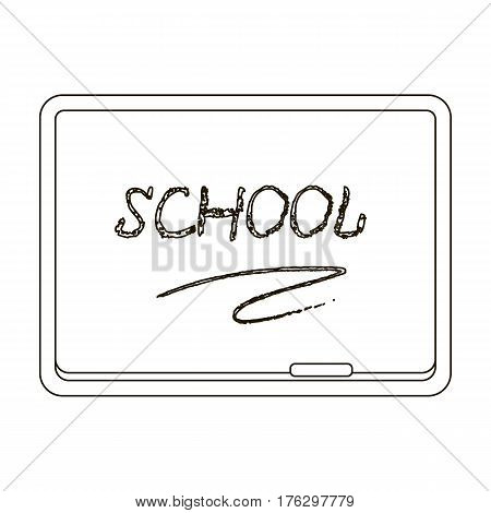 Blackboard with chalk and pointer . Board for classes.School And Education single icon in outline style vector symbol stock web illustration.