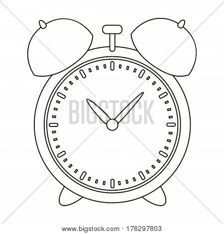 Alarm clock for early Wake up to school. Watch so as not to be late for school .School And Education single icon in outline style vector symbol stock web illustration.