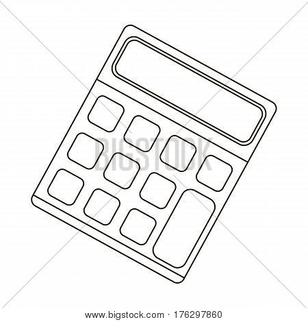 Calculator. Machine to quickly count data. Math .School And Education single icon in outline style vector symbol stock web illustration.