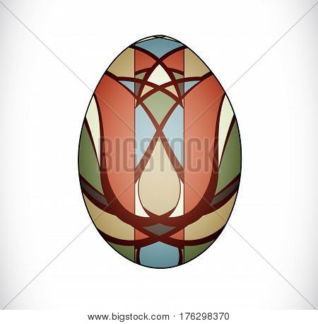 Isolated colorful easter egg. Illustration 10 version