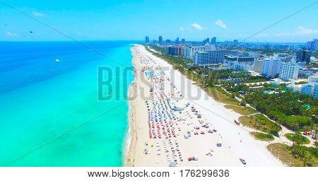 South Beach, Miami Beach. Florida. Atlantic Ocean.