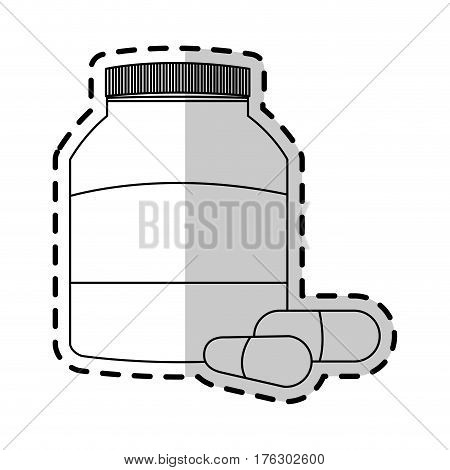 medication pills icon image vector illustration design