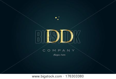 Dd D D  Gold Golden Luxury Alphabet Letter Logo Icon Template