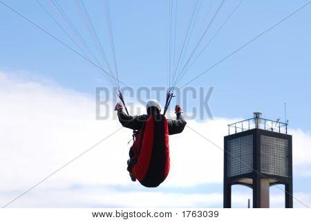 Paraglider Final Approach