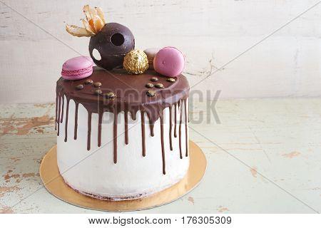 Chocolate Souffle Cake On A Dish