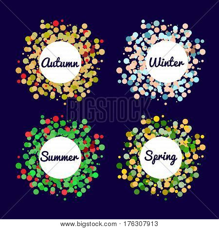 Four Seasons Color Background. Abstract Vector illustration