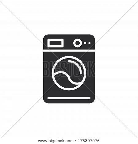Washing machine icon vector filled flat sign solid pictogram isolated on white. Laundry symbol logo illustration
