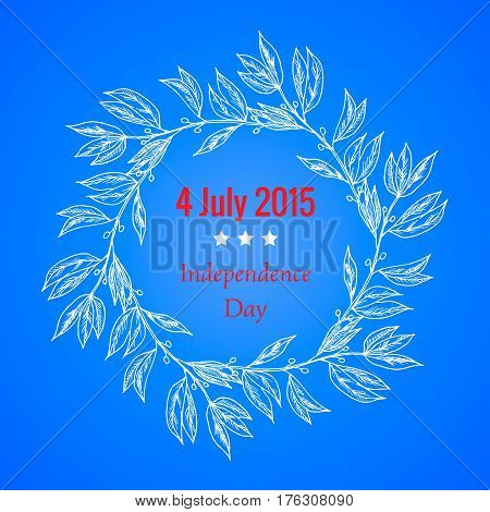 The fourth of July, American Independence Day. Vector illustration