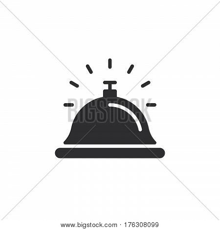 Reception bell icon vector filled flat sign solid pictogram isolated on white. Help desk symbol logo illustration