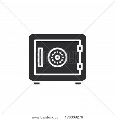 Strongbox icon vector filled flat sign solid pictogram isolated on white. In room safe symbol logo illustration