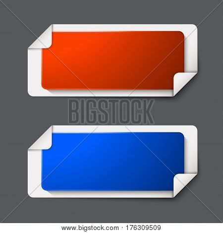 Vector modern banners set on gray background