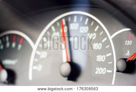 Blurred photo of the speedometer for the background