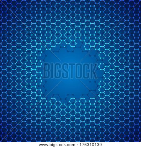 Vector modern techology concept background. Pattern backdrop