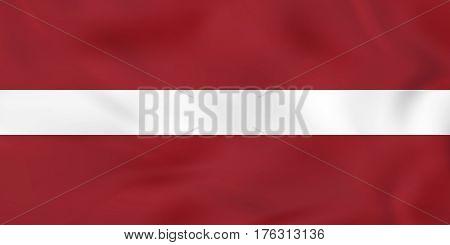 Latvia Waving Flag. Latvia National Flag Background Texture.