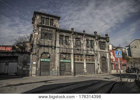 Edificio antiguo La Felguera Nalón Asturias arqueología industrial
