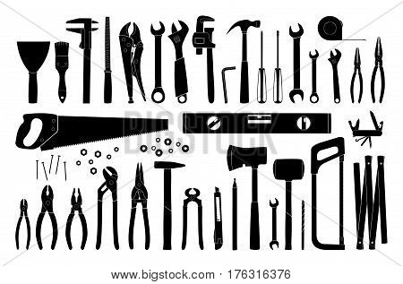 Workin tools icon collection - vector illustration
