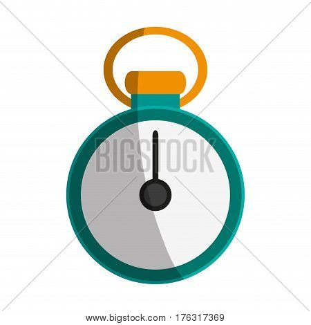 chronometer device icon over white background. colorful design. vector illustration