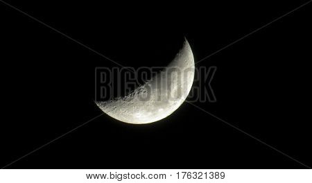 Crescent of Moon which symbolizes the celebration of Ramadan festival according to Islamic belief