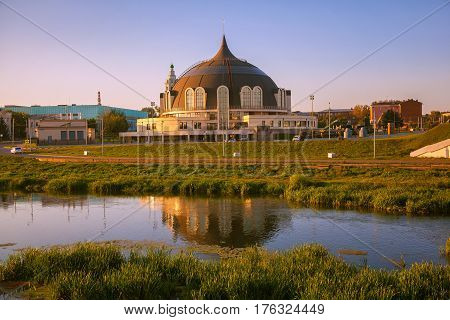 Tula, Russia - August 6, 2016: The Museum of weapons in Tula at sunset