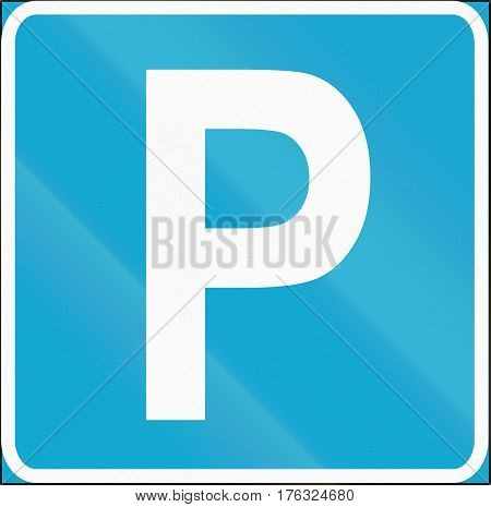 Road Sign Used In Estonia - Parking Place