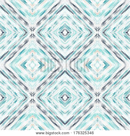 Abstract Seamless Pattern With Lots Of Zigzags And Squares.