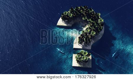 Question Mark - Shaped Island